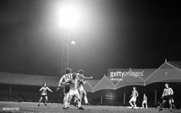 Wolves 41 Lokomotive Leipzig UEFA Cup 2nd leg match at Molineux Stadium Wednesday 7th November 1973 Match drawn 44 on aggregate Loko Leipzig qualify...