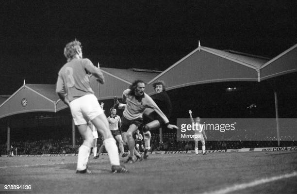 Wolves 41 Lokomotive Leipzig UEFA Cup 2nd leg match at Molineux Stadium Wednesday 7th November 1973 Match drawn 44 on aggregate Loko Leipzig qualify...