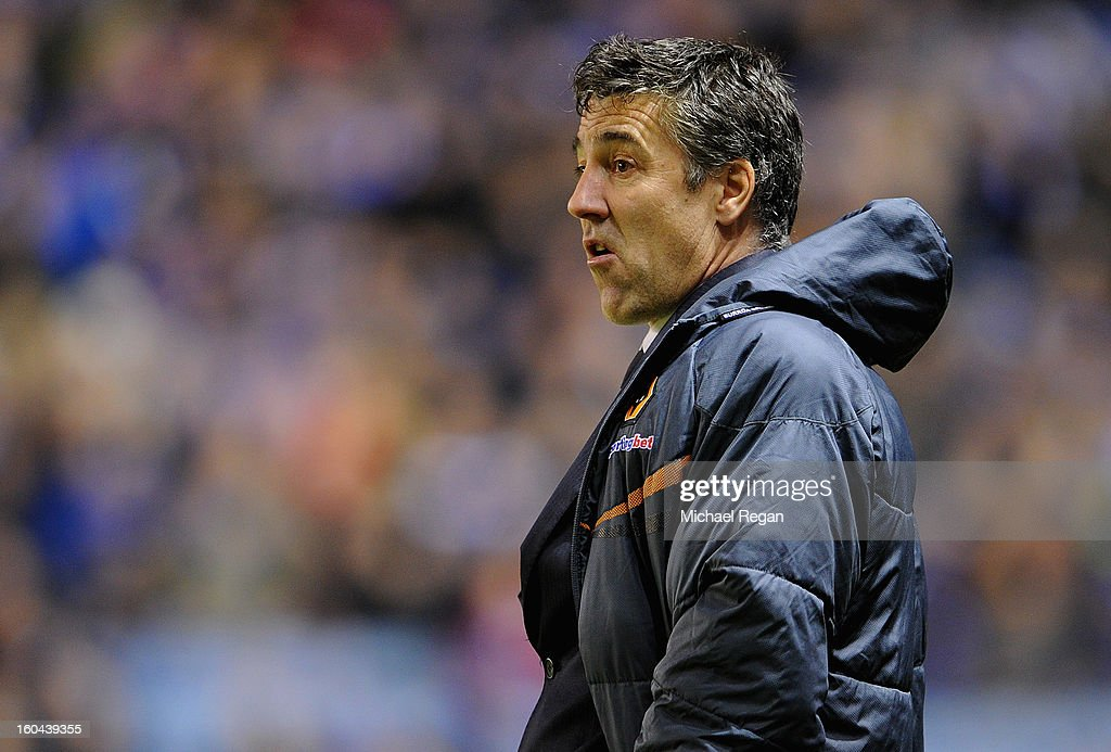 Wolves manager Dean Saunders looks on during the npower Championship match between Leicester City and Wolverhampton Wanderers at The King Power Stadium on January 31, 2013 in Leicester, England.