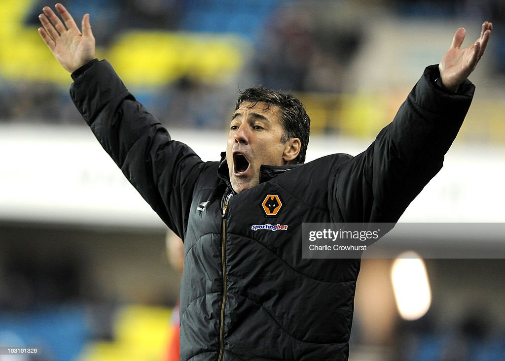 Wolves manager Dean Saunders reacts during the npower Championship match between Millwall and Wolverhampton Wanderers at The Den on March 05, 2013 in London, England,