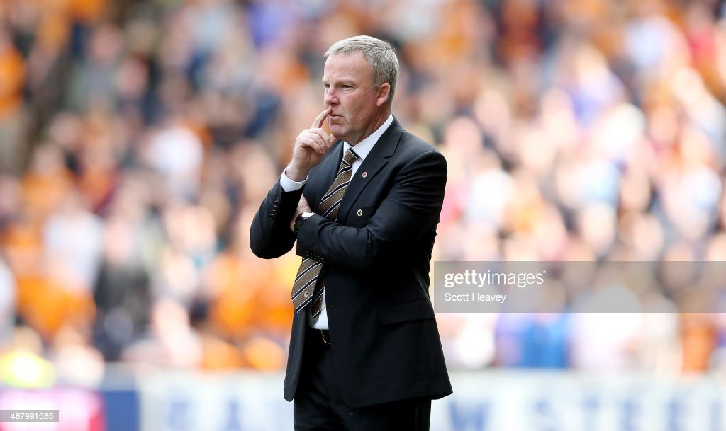 Wolves manager Kenny Jackett during the Sky Bet League One match between Wolverhampton Wanderers and Carlisle United at Molineux on May 3, 2014 in Wolverhampton, England.