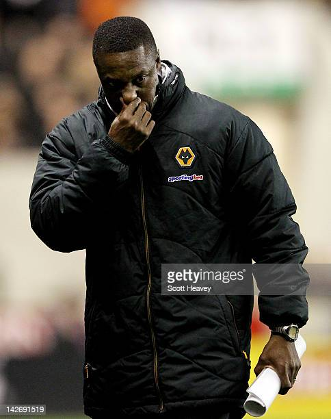 Wolves manager Terry Connor during the Barclays Premier League match between Wolverhampton Wanderers and Arsenal at Molineux on April 11 2012 in...