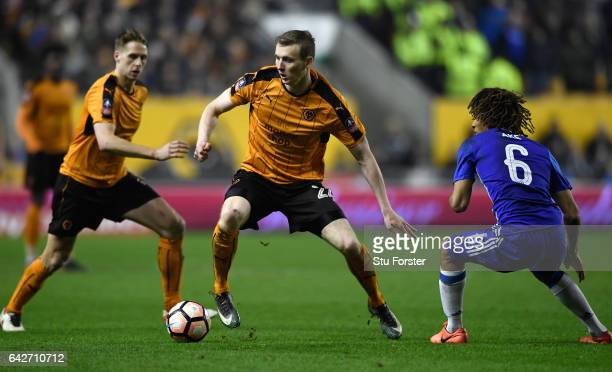 Wolves player Jon Dadi Bodvarsson in action during The Emirates FA Cup Fifth Round match between Wolverhampton Wanderers and Chelsea at Molineux on...