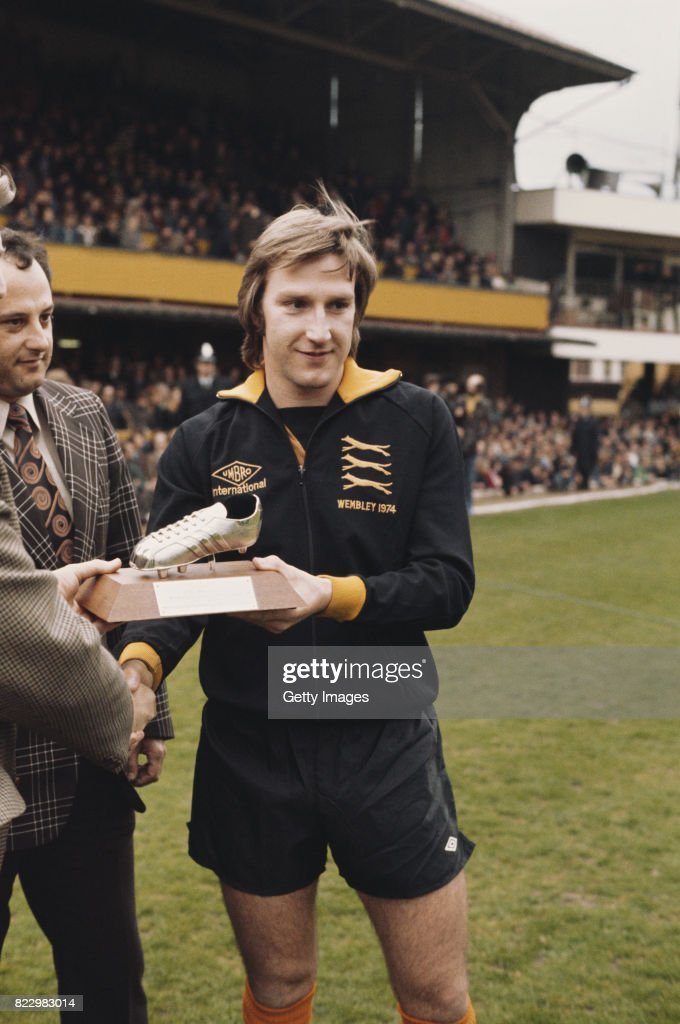 Steve Daley Wolverhampton Wanderers player of the year 1977 : News Photo