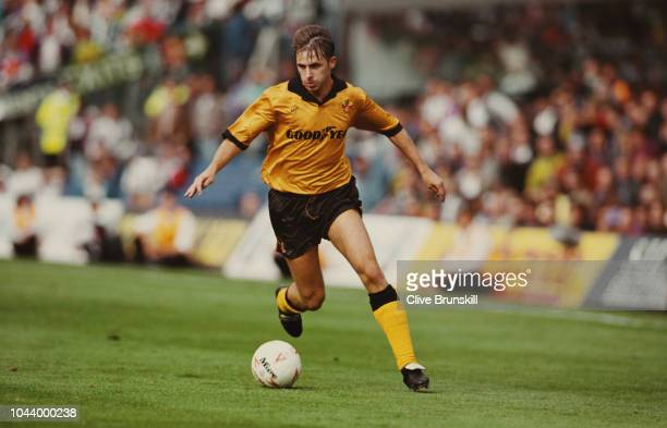 Wolves striker David Kelly in action during a match against West Bromwich Albion at Molineux on September 5 1993 in Wolverhampton England