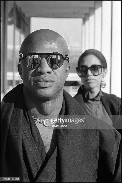 Womack and Womack Cecil Womack and Linda Womack pose for portraits at EMI Records London UK on 16th October 1986