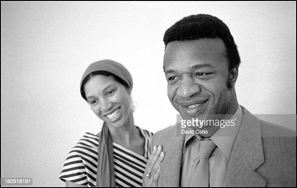 Womack and Womack Linda Womack and Cecil Womack pose for portraits at the John Howard Hotel London on 11th May 1984