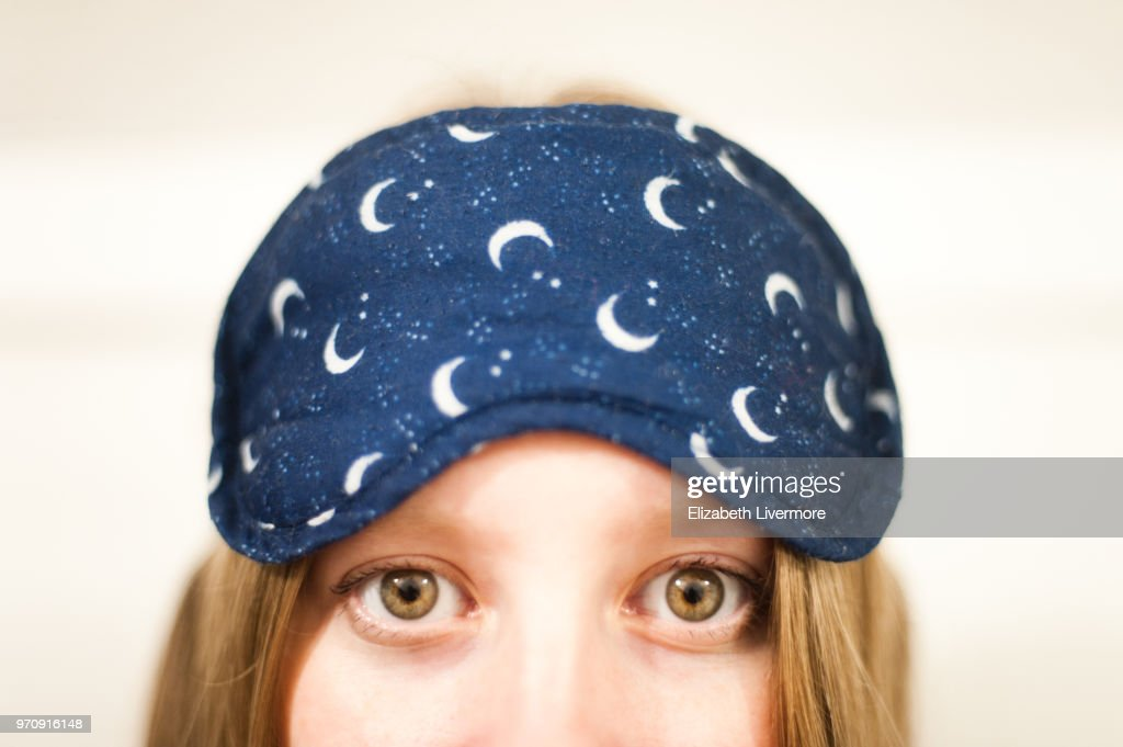 Woman about to go to sleep : Stock Photo