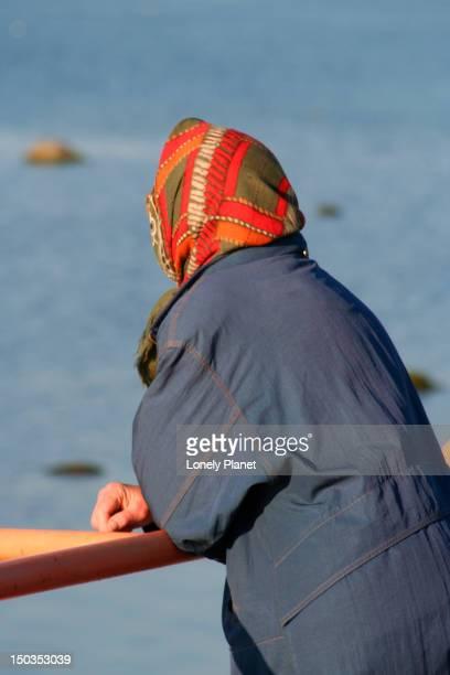 woman admiring view near pirita rand. - harjumaa stock pictures, royalty-free photos & images
