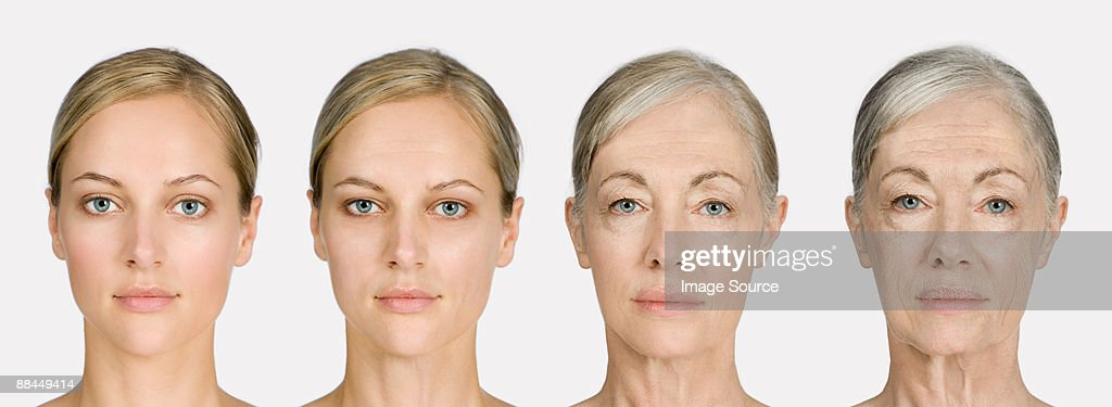 Woman aging : Stock Photo