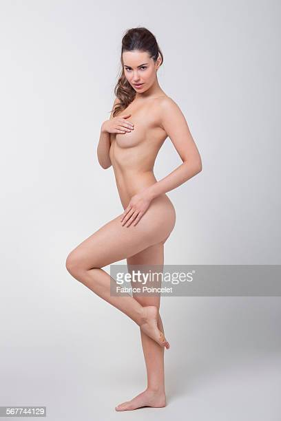 Woman analyzing her breast