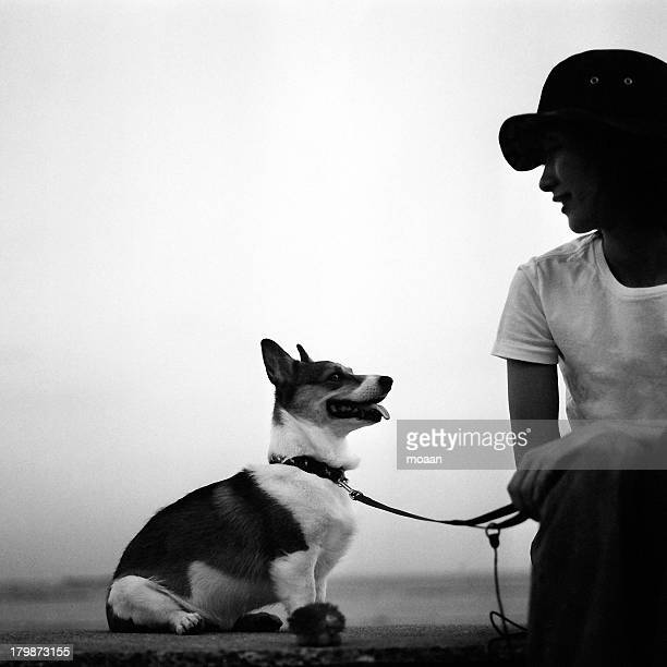 A Woman and a Dog