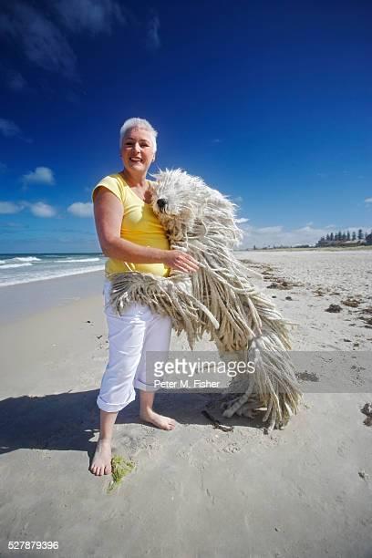 Woman and Big Dog