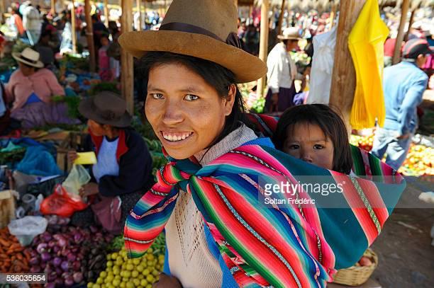Woman and child in Chinchero Market