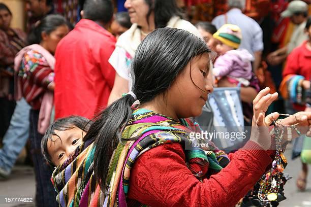 Femme et enfant au Guatemala