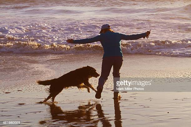 Woman and Dog Friendship