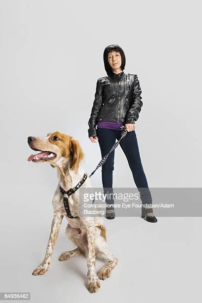 """woman and dog - """"compassionate eye"""" stock pictures, royalty-free photos & images"""
