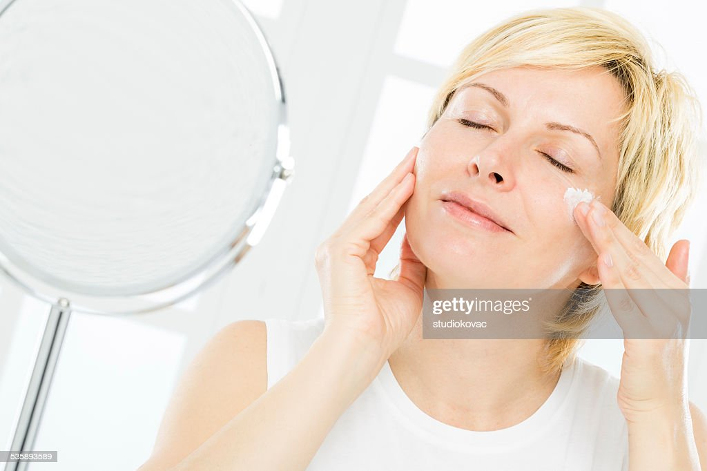 Woman and face care. : Stock Photo