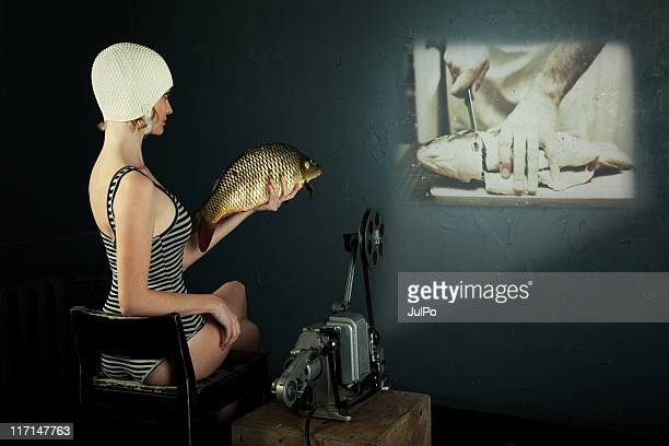 Woman and fish