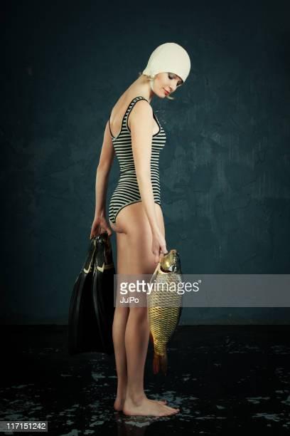 Frau und Fisch