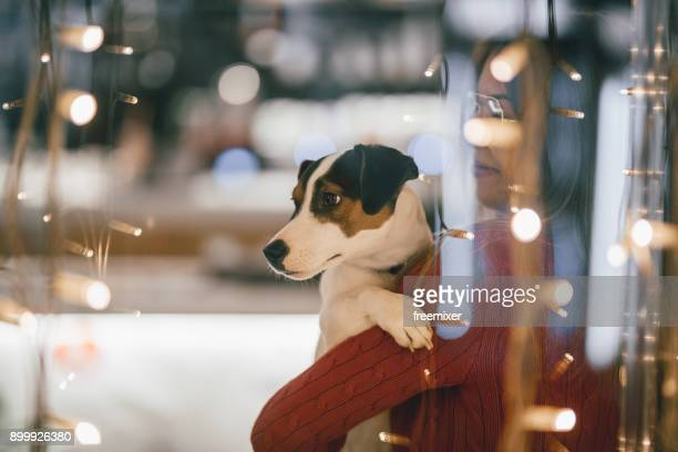 Woman and jack russel