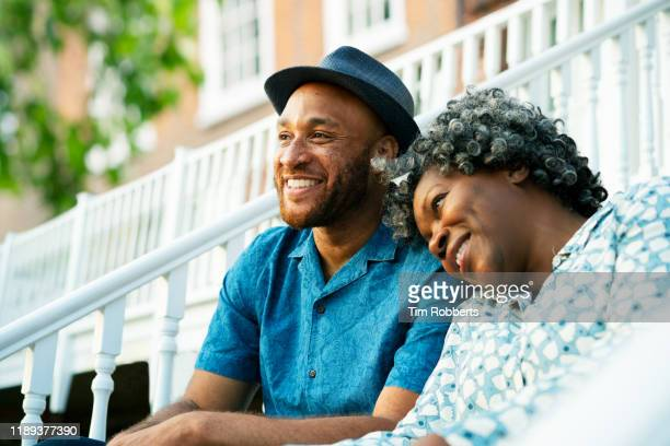 woman and man bonding outside - carefree stock pictures, royalty-free photos & images
