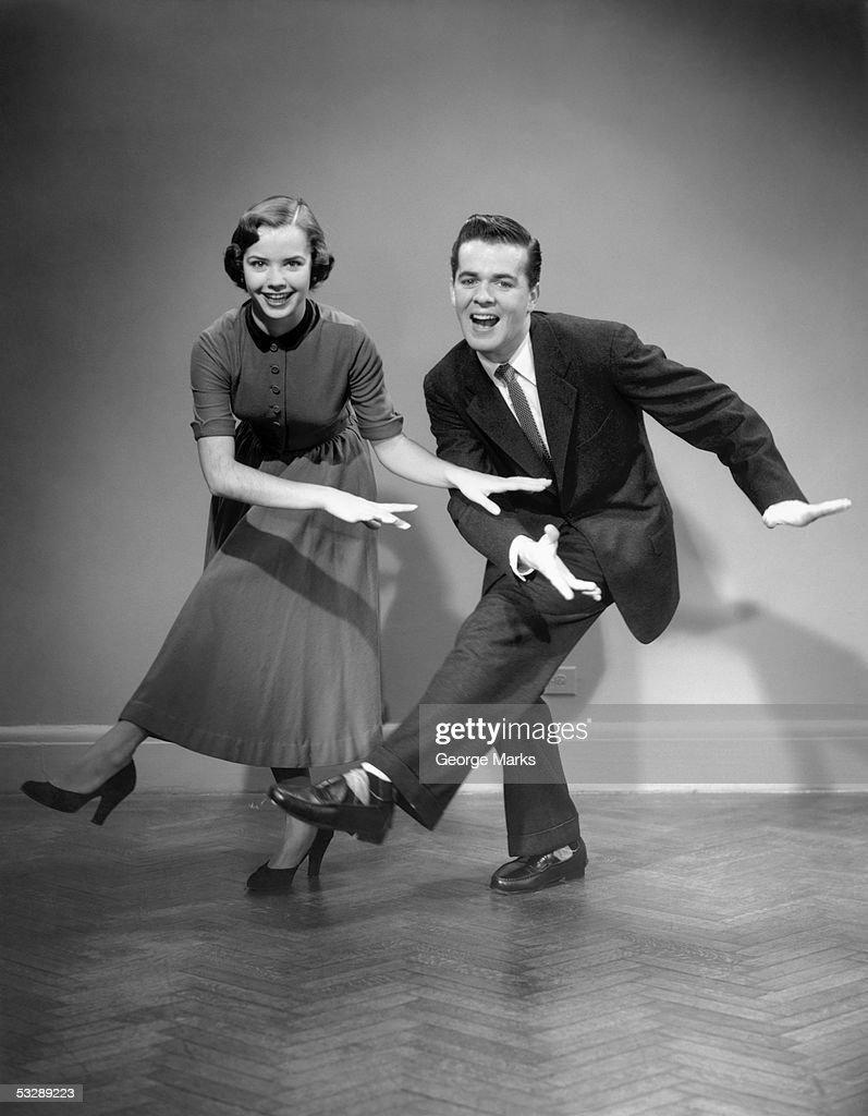 Woman and man dancing : Stock Photo