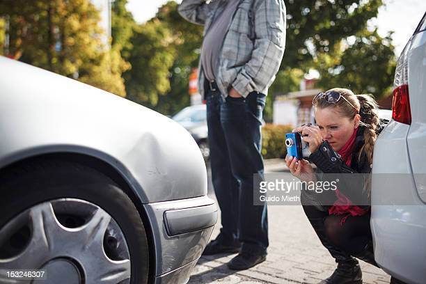 Woman and man with car