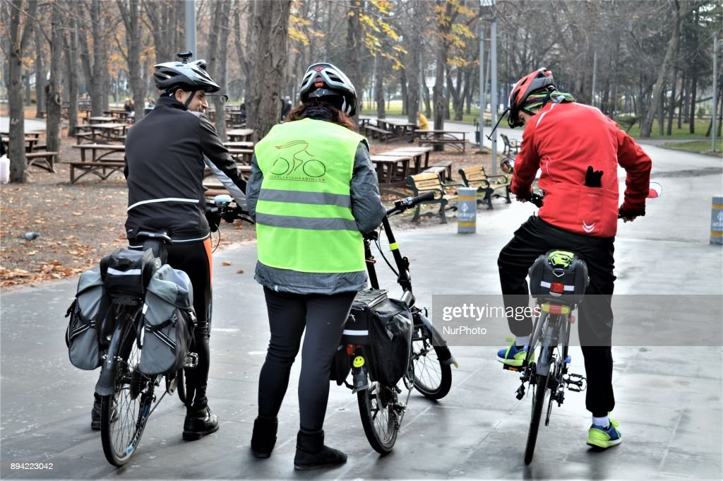 Female Cyclists Ride for Freedom in Ankara