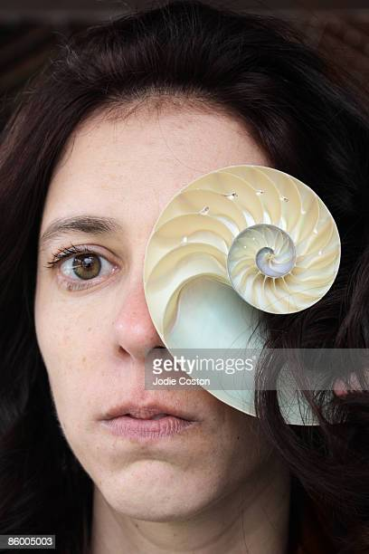Woman and Nautilus Shell