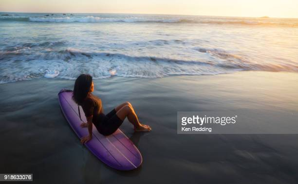 Woman and Surfboard