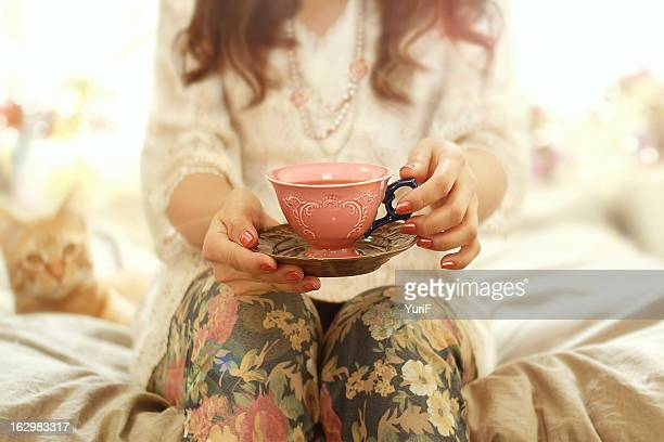 Woman and tea