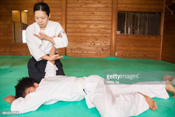 Woman Applying Martial Art Technique