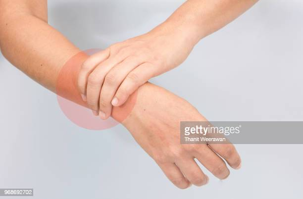 woman arm pain - chronic illness stock photos and pictures