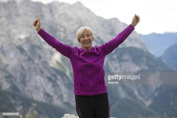 Woman arms raised
