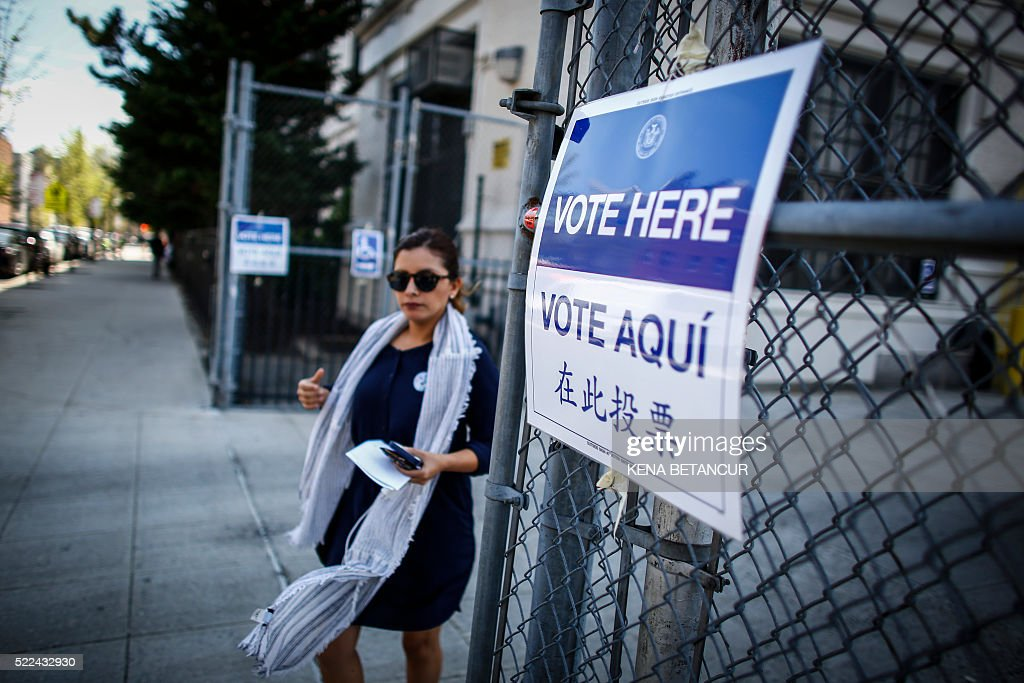 US-VOTE-NEW YORK : News Photo