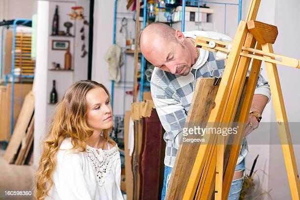 woman artist's studio