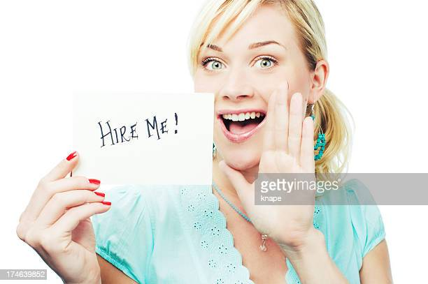 Woman asking to get hired