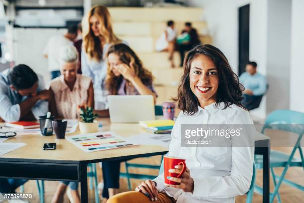 Woman at a business meeting