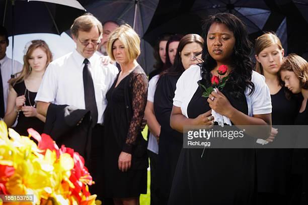 Mujer en un Funeral