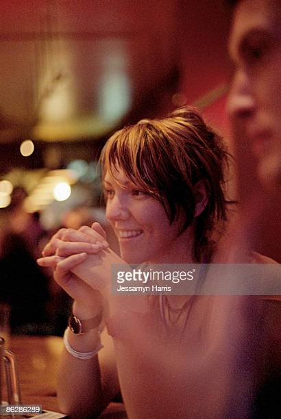 woman at a restaurant - jessamyn harris stock pictures, royalty-free photos & images