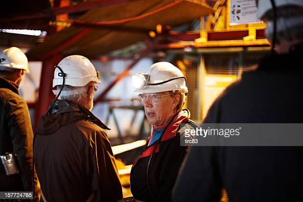 Woman at Big Pit colliery in Blaenavon