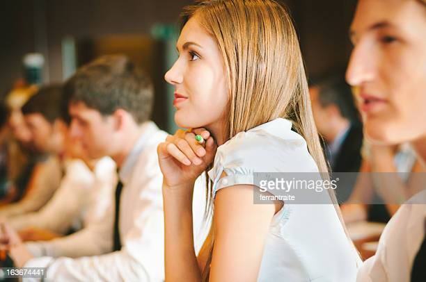 Woman at Business Conference