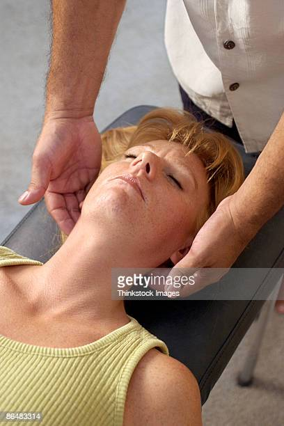 Woman at chiropractic appointment