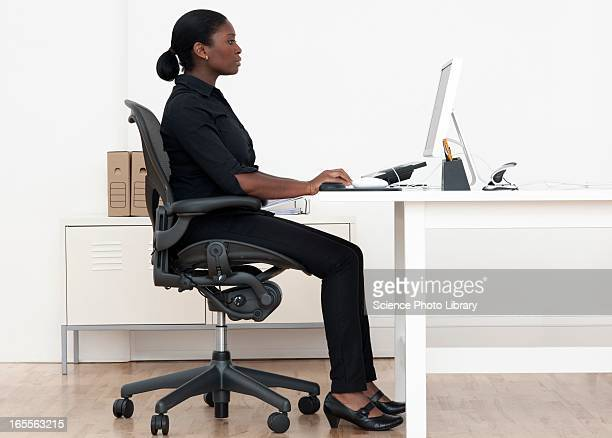 Woman at desk