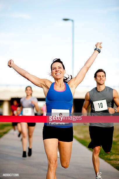 Woman at Finish Line