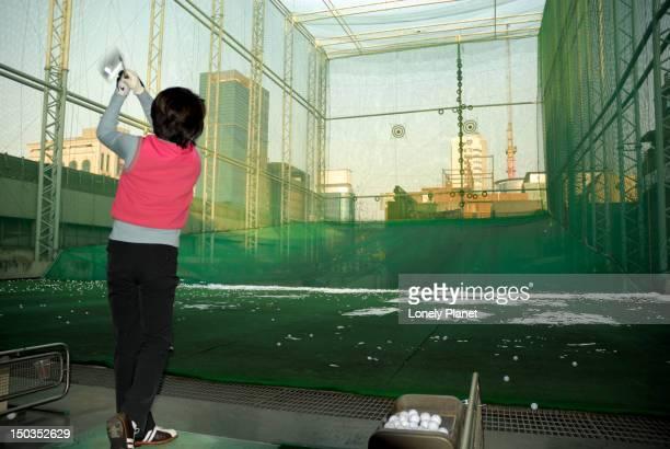 Woman at Hyosung Golf Range, Gangnam.