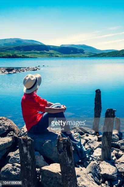 Woman at Loch Assynt, Sutherland, Scotland
