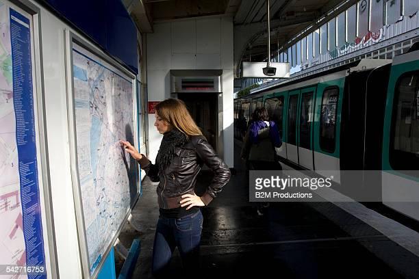 Woman at metro