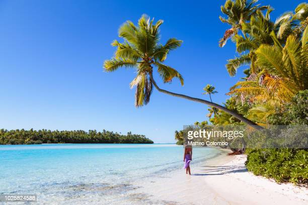Woman at One Foot Island, Aitutaki, Cook Islands